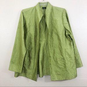 [Eileen Fisher] Silk Crinkle Blazer Jacket XL